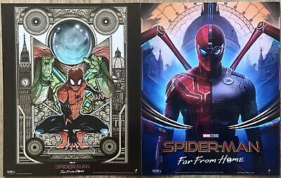 Marvel Spider-Man Far From Home Posters 1 & 2 Complete Set Pair Odeon Official