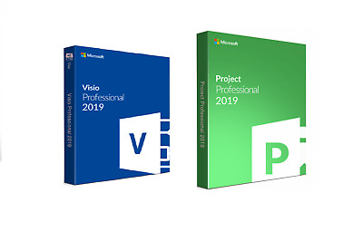 Fast MS Project Professional 2019 and Visio PRO 2019 FOR 1 PC GENUINE