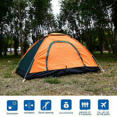 Large 2-3 Person Portable Outdoor Pop Up Tent Camping One Door sunshade Picnic