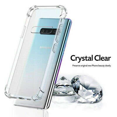 For Samsung Galaxy Note 10 Pro S10 + Shockproof Bumper Clear Silicone Case Cover