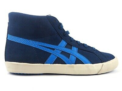 Kids Onitsuka Tiger Fabre BL-L PS C2A5Y 5042 Navy Hi Top Lace Up Trainers