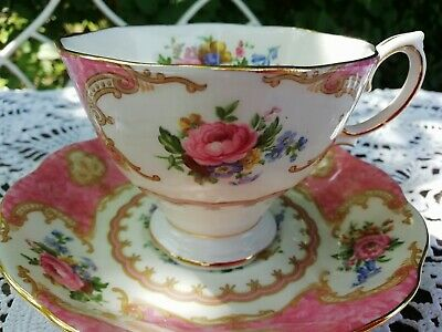 Royal Albert Lady Carlyle Tea Cup & Saucer Replacements Display 1st Quality