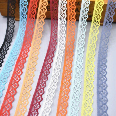 10 Yards Lace Ribbon 15mm Wide Trim DIY Fabric Wedding Decorative Sewing Rope