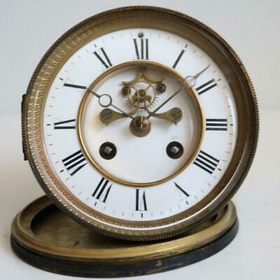GOOD ANTIQUE FRENCH BELL STRIKE CLOCK MOVEMENT visible escapement S,MARTI works