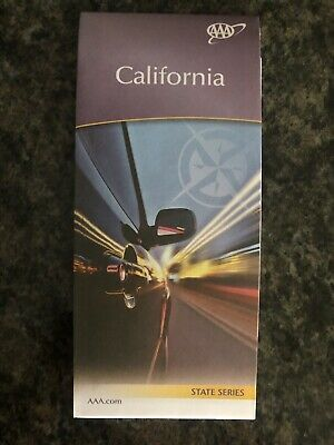 AAA CALIFORNIA Travel Road Map State Vacation Roadmap 2018-2020