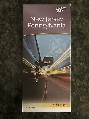 AAA NEW JERSEY & PENNSYLVANIA State Travel Road Map Vacation Roadmap 2018-2019