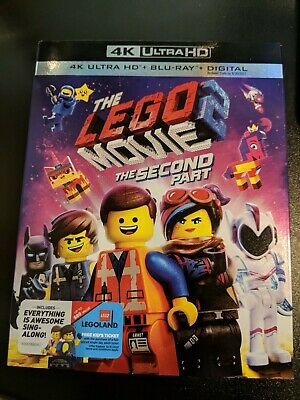 The Lego Movie 2 The Second Part 4K Ultra Hd Blu-Ray 2 Disc + Slipcover