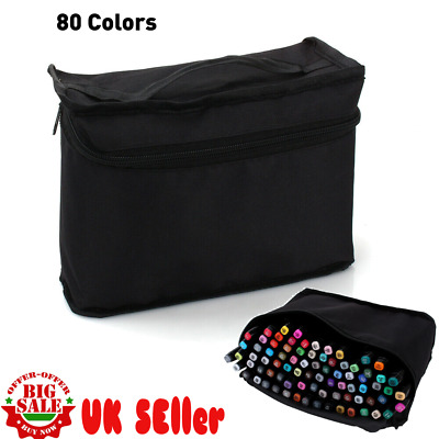 Twin Tip MARKER PENS 80 Colours Graphic Sketch Art Markers Artists Anime Drawing