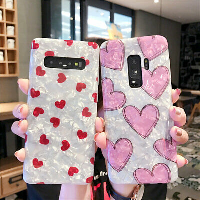 For Samsung Galaxy S10+S9 S8 Note9 Matte Marble Pattern Soft Silicone Case Cover