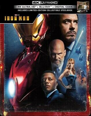 Iron Man SteelBook (4K UHD + Blu-ray + Digital HD) *Ready Ship*