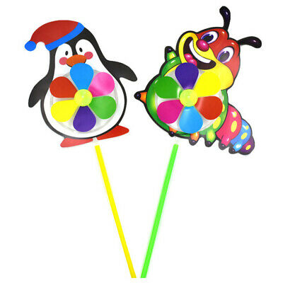 Cartoon Stereo Animal Wind Spinner Windmills Garden Lawn Party Decor Toys Gift^S