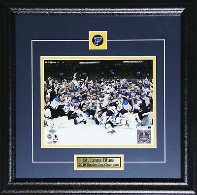 St. Louis Blues 2019 Stanley Cup Champions NHL Hockey 8x10 Collector Frame