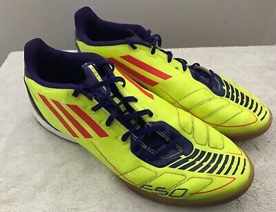 343d276069 ADIDAS F50 F10 Soccer Indoor Shoes - Size 10 1/2 - Men's - Yellow - Purple  10.5