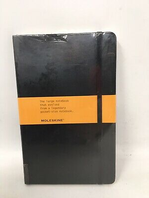 New Moleskine Classic Notebook Ruled Black  Hard Cover 5 x 8.25 Hemingway....