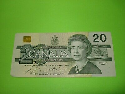 1991 - Canadian $20 bill - twenty dollar note - AVZ9384283