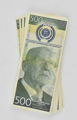 Total Recall: United Federation of Britain $500 Bill (Stack of 5 Bills)