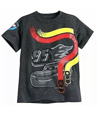 Disney Store CARS Tee Shirt Grey Kids Size Small (5/6)- Piston Cup New