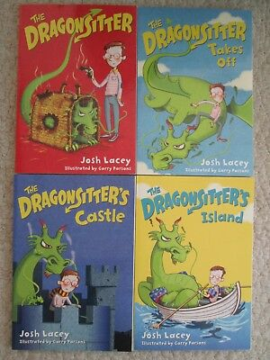 DRAGONSITTER LOT 1-4~Josh Lacey~CASTLE~ISLAND~TAKES OFF~