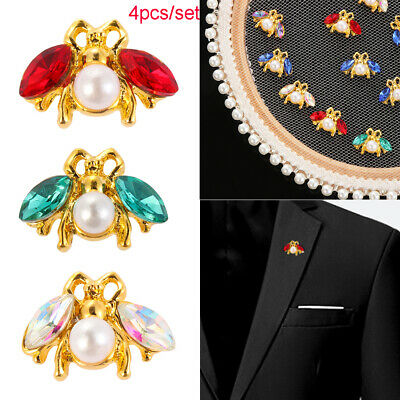 Bow Accessories Scrapbooking DIY sew on beads Sewing button Rhinestone Bee