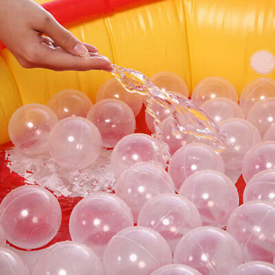 50pcs/lot Baby Safety Transparent White Plastic Pool Ocean Balls Funny Toys_L