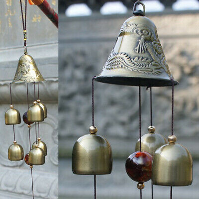 58.4cm Grande Resonante Viento Campanillas 6xBells Cobre Church Hogar Patio