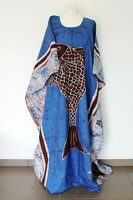 African Batik Print,Maxi Loose Dress,One Size/ Embroidered and not Embroidered