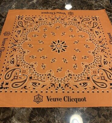 Authentic Veuve Clicquot Signature Yellow CLOTH BANDANA SCARF WRAP Awesome VCP