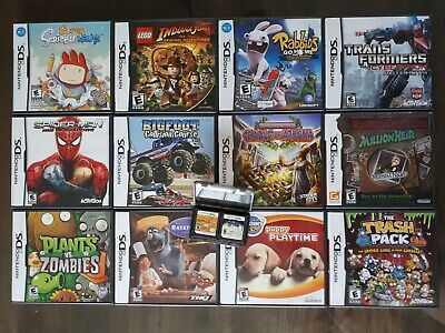 Lot of 14 Nintendo DS games (12 cib, 2 loose) (LEGO Indiana, Spider-Man, Spyro)