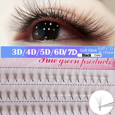 INDIVIDUAL MINK 5D lashes eyelashes extensions C Curl 0 10