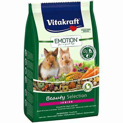 Vitakraft Emotion Beauté Junior, Lapins Nains - 600g - Nourriture Lapin