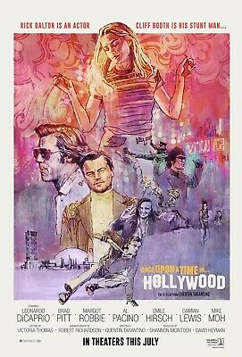 "ONCE UPON A TIME IN HOLLYWOOD (12'' x 18'"") Movie Collector's Poster Print 12x18"