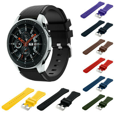Soft Silicone Watch Band Replacement Band Strap For Samsung Galaxy Watch 46mm-CA