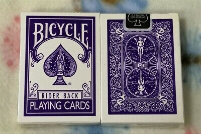 1 DECK Bicycle Fashion purple reverse-face playing cards