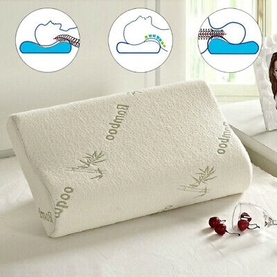 Anti Bacterial Bamboo Memory Foam Pillow Orthopedic Firm Head Neck Back Support