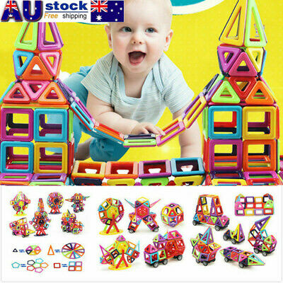 64/95pcs Magnetic Toy Building Blocks Set 3D Tiles DIY Toys Great Gift for Kids