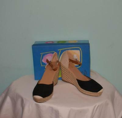 fe3d5cfad Refresh Brown FX Wood Sandal High Heel Wedge Shoes 4.5