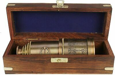 "Marine Telescope Nautical Antique Solid Brass Maritime Pirate Spyglass 20"" Gift"