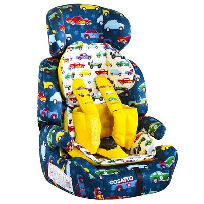 Cosatto Zoomi Group 1/2/3 Child Kids Car Seat With 5 Point Plus Rev Up - 9-36kg