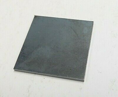 100mm Square MILD STEEL METAL PLATE 3MM THICK  x pack of 4