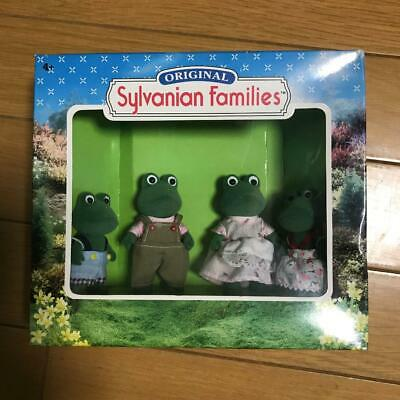 Rare Sylvanian Families Calico Critters Frog Family Doll Set Epoch Japan