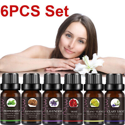 Top 6 Set Essential Oils Aromatherapy  Natural 10ml Pure Oil Fragrances Diffuser