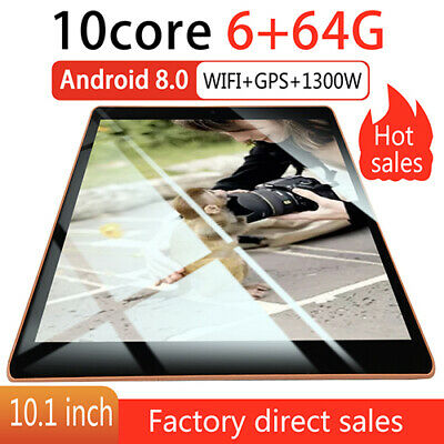"""10.1"""" Tablet PC 4G+64G Ten Core Android 8.1 WIFI Dual Camera Bluetooth 4G 2 SIM"""