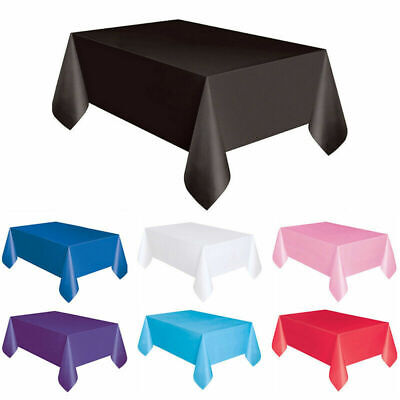 Plastic TABLECOVERS Table Cloth Cover Party Catering Events Tableware 15 COLOURS