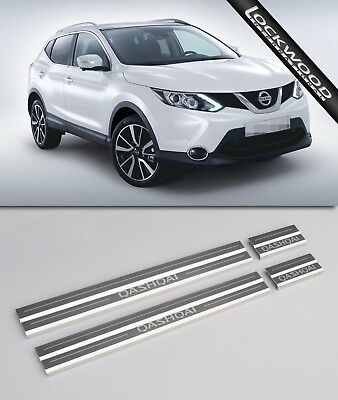 Nissan Qashqai (5 seater) Stainless Steel Sill Protectors / Kick plates
