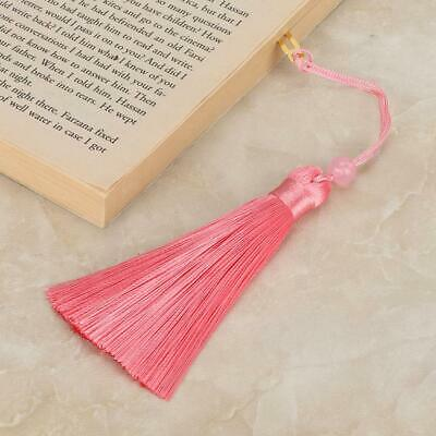 Chinese Style Circular Fan Brass Bookmarks Tassel Book Markers Gift For Readers