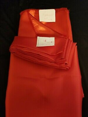 "Satin Charmeuse Wedding Bridal Silky Fabric Red  60"" X 6 Yards 22"""