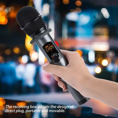 UHF Bluetooth Wireless Microphone 10 Channel Handheld Mic Speaker Cordless Party