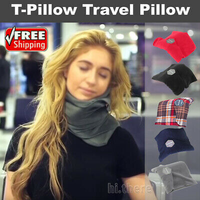T-Pillow Portable Soft Comfortable Travel Pillow Proven Neck Support Sitting Nap