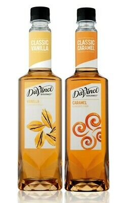 CHOOSE 2 x Premium DaVinci Flavoured Syrup 750ml (10 Flavours) Barista Coffee