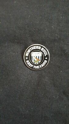 West Bromwich Albion FC Northern Soul Keep The Faith Pin Badge